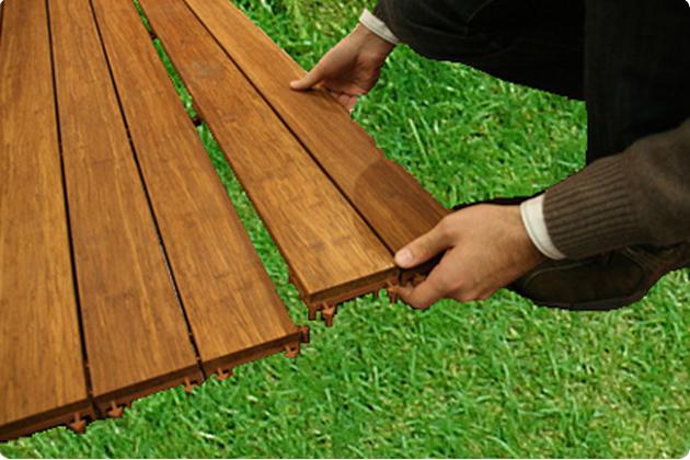 Pavimenti in legno parquet per esterno