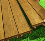 Pavimento da esterno in bamboo